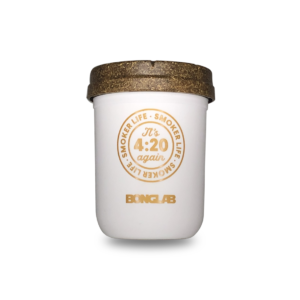 Bonglab Re: Stash Jar 8 Oz Blanco Gold